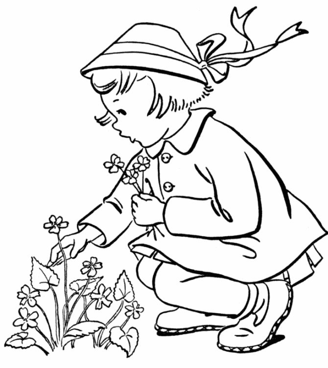 free printable spring coloring pages are fun for kids to color fun spring page to color