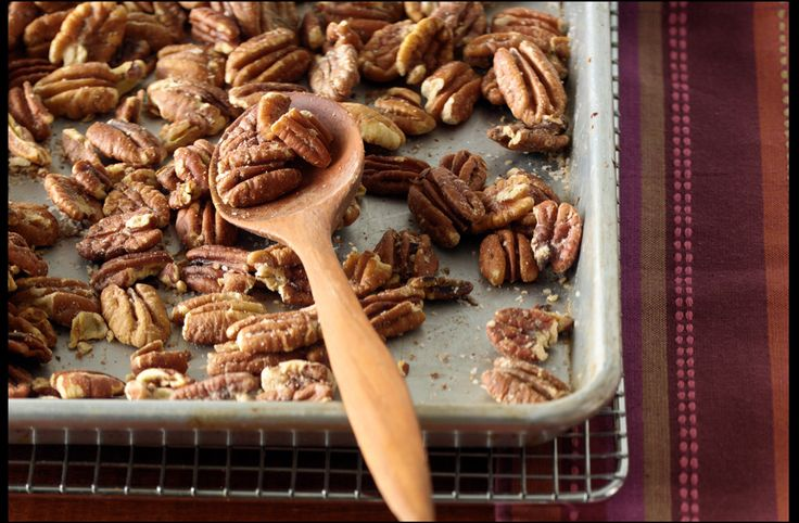Roasted salted pecans. To throw on top of some homemade pumpkin cheesecake ice cream? I think so!