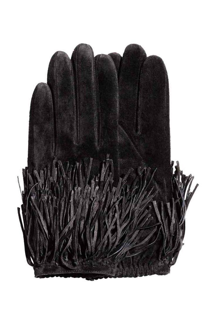 Fingerless gloves h m - Gants En Daim