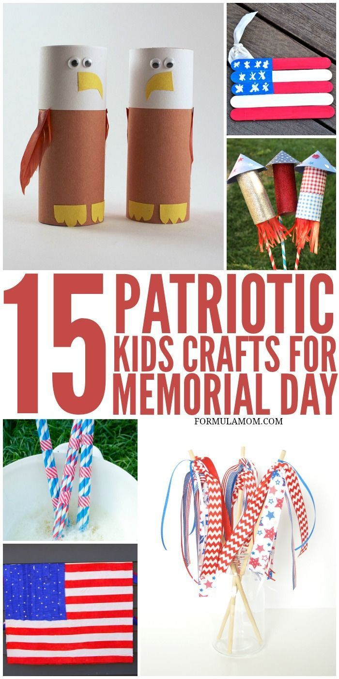 Try one of these Patriotic Crafts for Kids for your Memorial Day celebration! They are great for celebrating the 4th of July with Kids too!