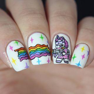 despicable me unicorn nails - photo #26