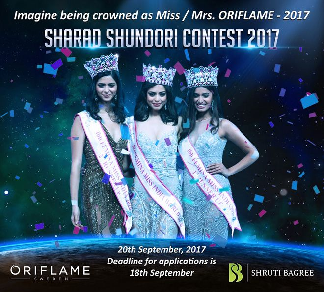 Sharad Shundori Contest 2017  Deadline for application is 18th September Please fill up the form: http://shrutibagree.com/join-me/   Criteria  - Must be between the ages of 18- 35 -Traditional Bengali Attire  -Judging Criteria: Hair and Make-up, Talent & Intelligence  Deadline for application is 18th September Contact Call or Whatsapp - 09088753334  #Beautycontest #Career