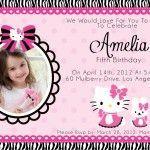 Free Printable Hello Kitty Invitation Card