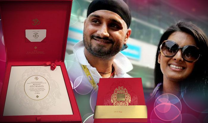 Harbhajan Singh and Geeta Basra tying the knot on October 29, 2015. Let's have a look at the Wedding Invitations and details of their Royal Wedding.
