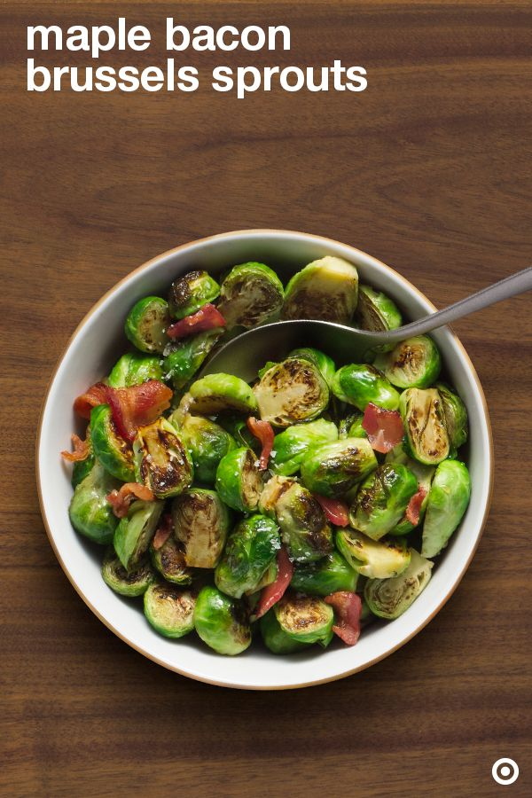 Flex your brussels with this maple bacon brussels sprouts Thanksgiving side recipe. Your guests won't know what hit ՚em!