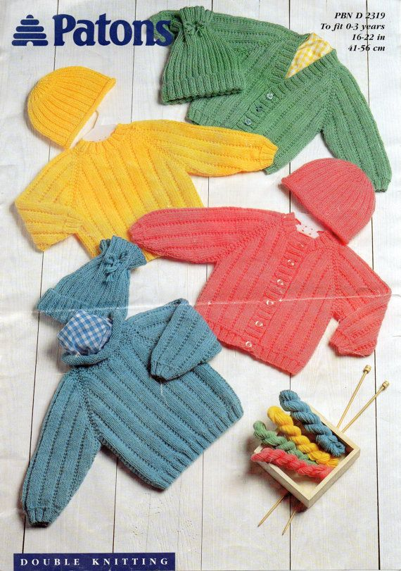 1980's VINTAGE Baby to Toddler Jumpers Cardigans and by Hobohooks, £1.20