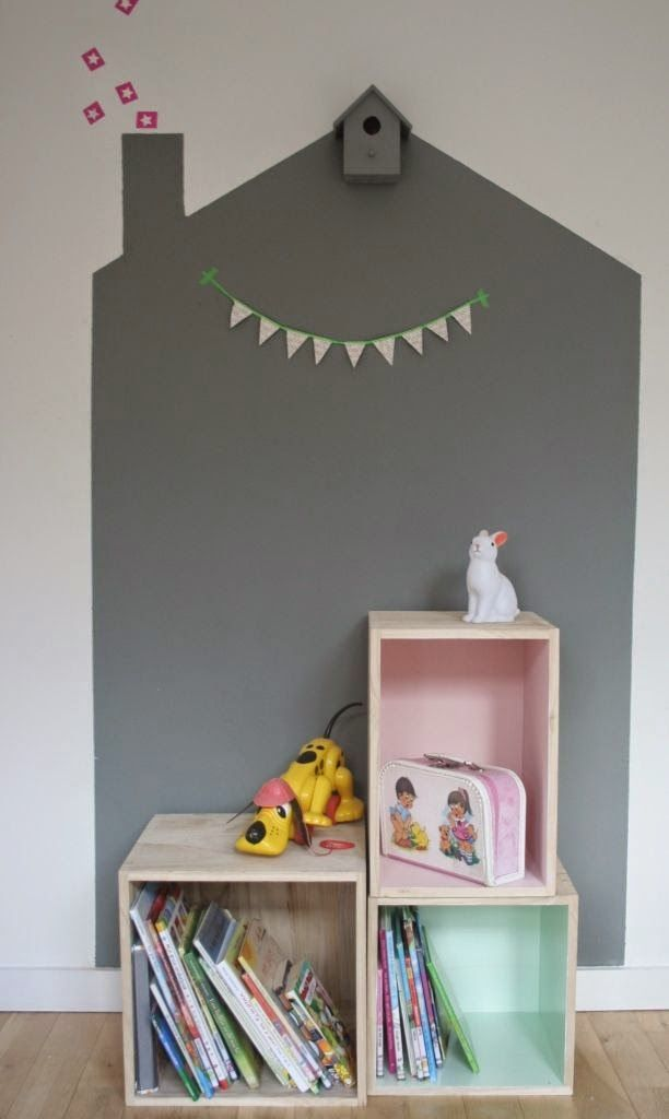 mommo design: 5 DIY IDEAS FOR KIDS - Painted playhouse