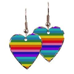 Stripes of Rainbow Colors Earrings by Khoncepts.com
