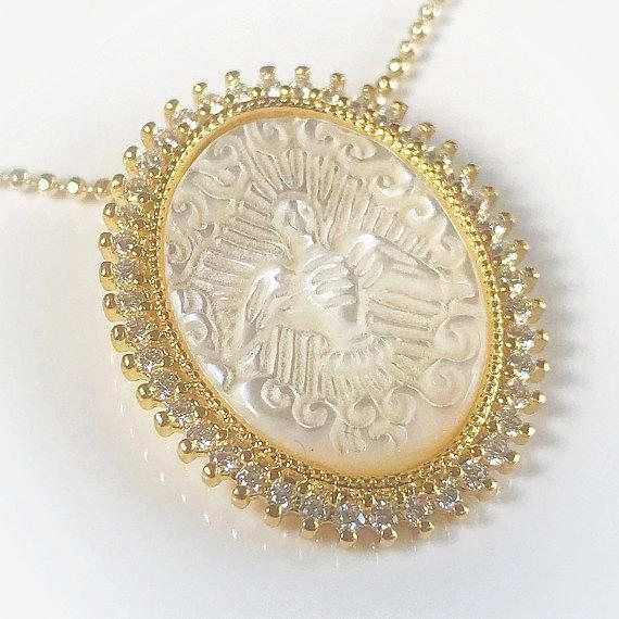 PicturesOnGold.com Our Lady of Fatima Religious Medal Color 10K And14K Yellow or White Gold or Sterling Silver