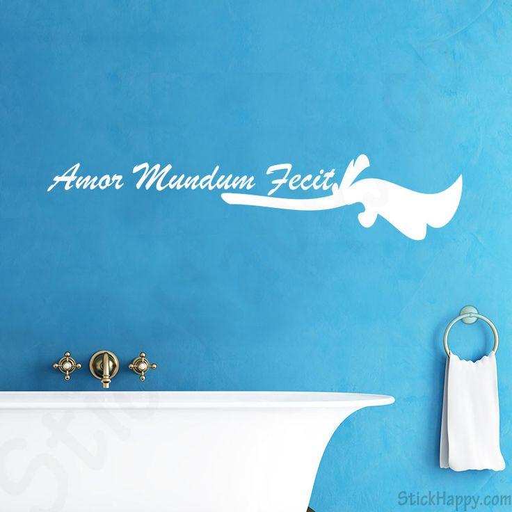 Stickers citation amour en latin : Amor Mundum Fecit qui signifie en français L'amour a fait le monde - http://www.stickhappy.com/stickers-citation-amour/195-stickers-citation-amour-en-latin.html