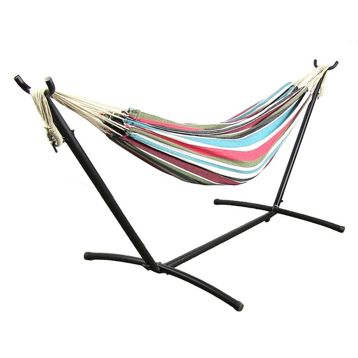 Simple Hammocks Sunnydaze Cotton Double Brazilian Hammock & Stand bos – Oxeme Home Lovely - Amazing standing hammock chair Awesome