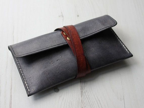 Leather Pencil Case by HideAndHome on Etsy