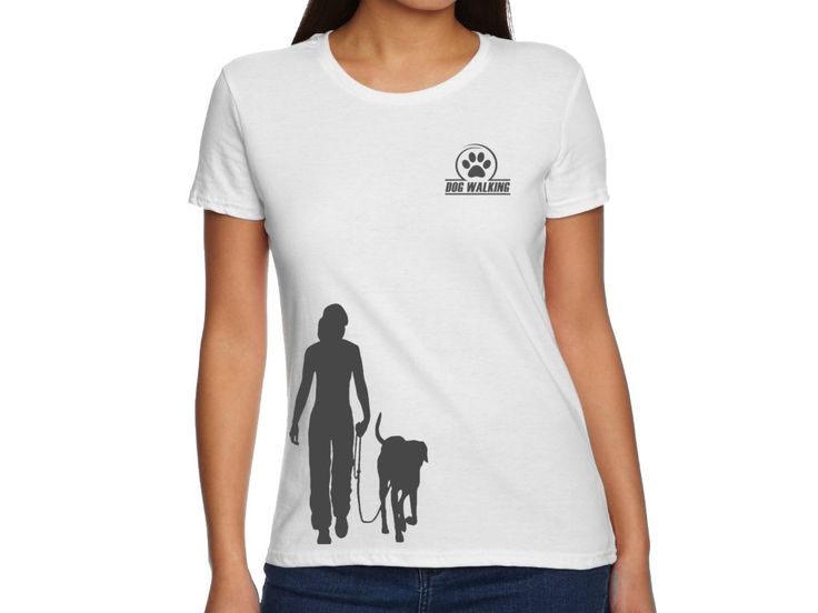 Dámské triko - Venčení (doprodej). Dámské triko s krátkým rukávem.