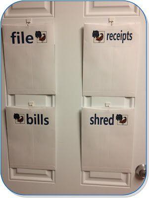 simple, inexpensive way to organize paperwork