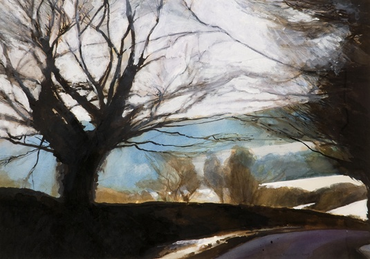 Winter Lane by David Prentice