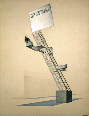 El Lissitzky, Lenin Tribune, 1920. State Tretyakov Gallery, Moscow - El Lissitzky - Wikipedia, the free encyclopedia