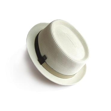 Dasmarca Cannes White Telescope Braid Porkpie Trilby Summer Men's Hat