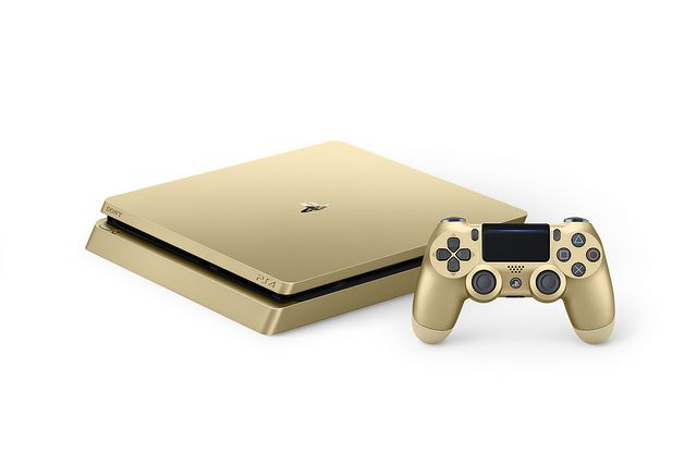 Gold PS4 #ps4 @PlayStation ‏ Slim heading stateside this week, gold and silver models land in… #VideoGames #europe #heading #later #models