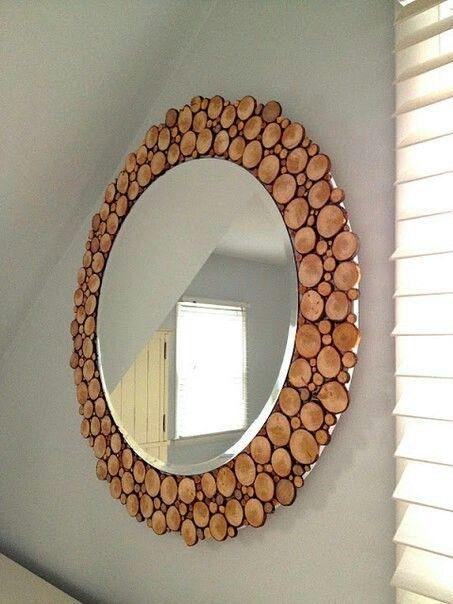 Simple DIY mirror frame