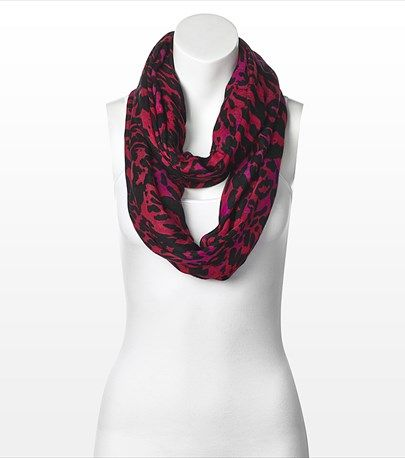 Look fierce with this colored cheetah eternity scarf & add some fun to your look!