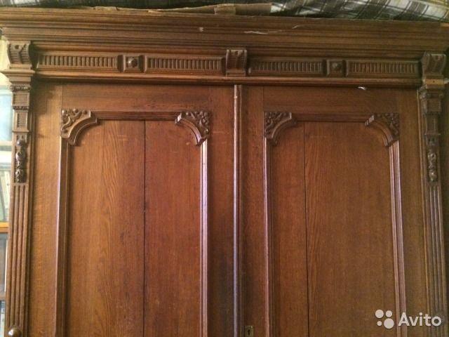 Антикварный дубовый шкаф купить в Санкт-Петербурге на Avito — Объявления на сайте Avito