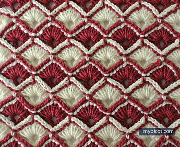 MyPicot | Free crochet patterns - I've seen this pattern with the Unforgettable variegated yarn.  BEAUTIFUL!