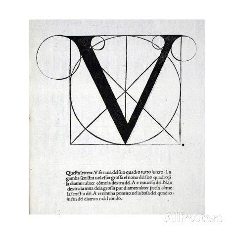 V, Illustration from 'Divina Proportione' by Luca Pacioli (C.1445-1517), Originally Pub. Venice,… Giclee Print by Leonardo Da Vinci at AllPo...
