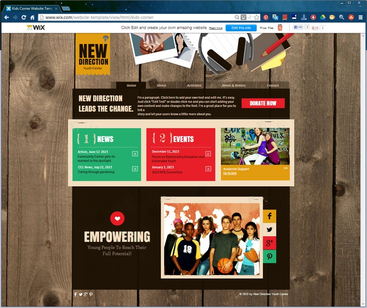 146 best website design templates by wix images on pinterest get your message out there with this gorgeous html5 website template pronofoot35fo Image collections