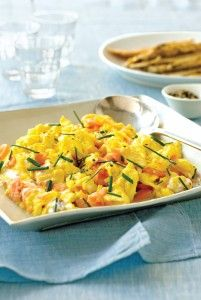 Dukan Diet Smoked Salmon with Scrambled Eggs.