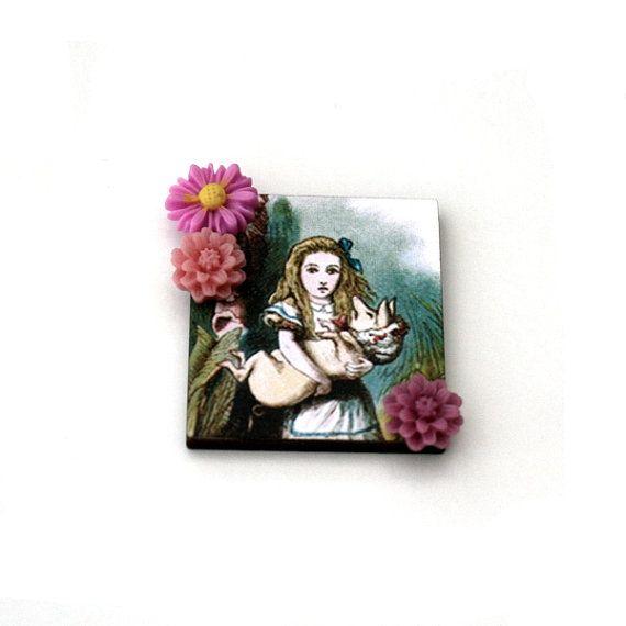 Alice in Wonderland Brooch Pig Baby Brooch by LaurasJewellery