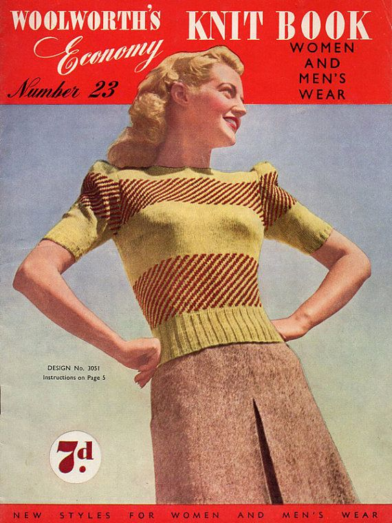 Old Knitting Pattern Books : 179 best images about Vintage Knitting Books Vintage Crochet Books Vintage Cr...