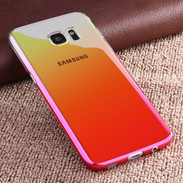 Gradient Color PC Hard Back Cover For Samsung S8 S7 Edge Case ARTISOME