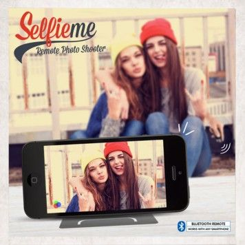 SELFIEME BLUETOOTH SELFIE BUTTON £12.45  Click Pic To Get It Here!  Like all great selfie tools, the Selfieme works via Bluetooth, with the remote photo shooter capturing the moment at the click of the button, although it accomplishes this without the need of the long stick that we have become accustomed too.