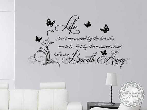 Family Wall Sticker Inspirational Quote Moments Take Your
