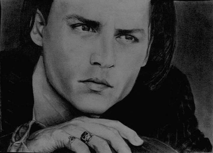 Johnny Depp pencil drawing portrait
