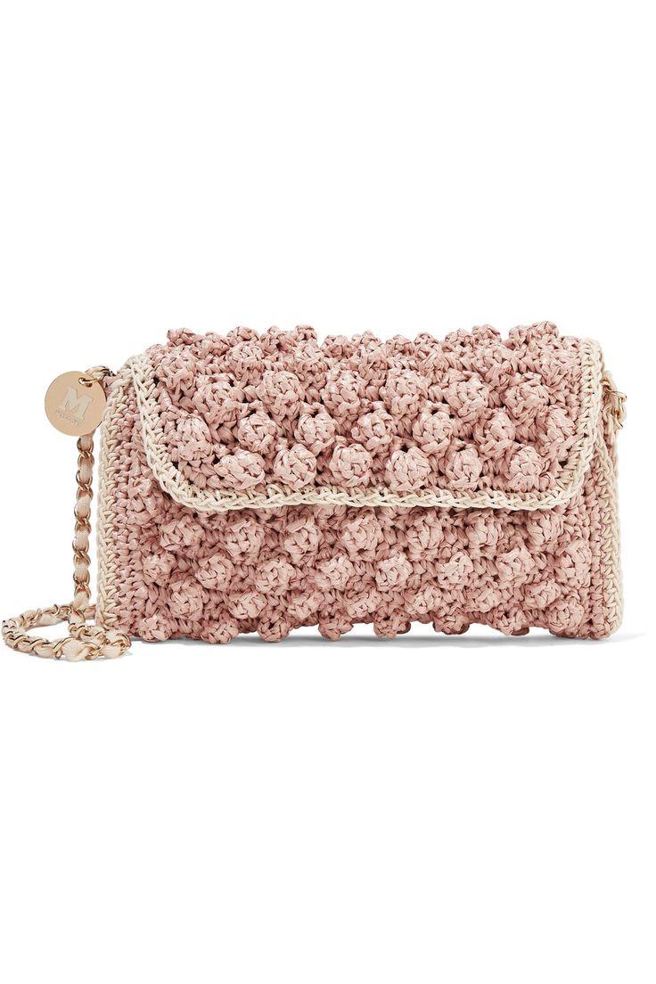 M MISSONI Textured crochet-knit shoulder bag. #mmissoni #bags #shoulder bags #knit #
