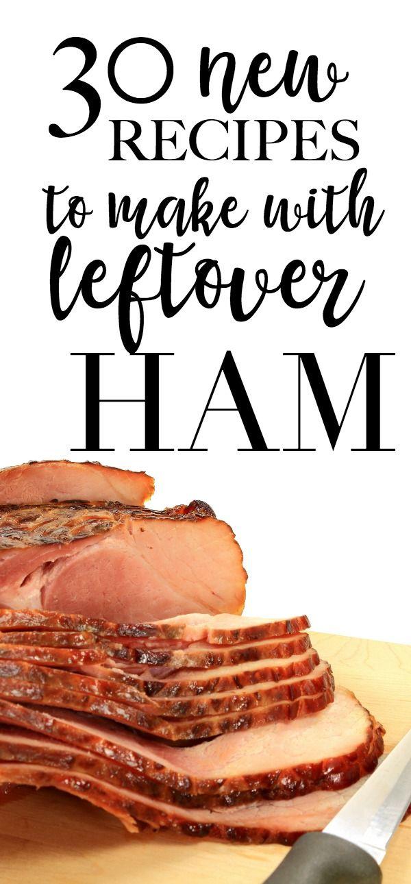 leftover ham recipes - these are great family dinner recipes to make with leftover hame #recipes #ham #hamrecipe #leftoverham