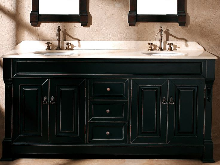 72 Inch Antique Black Double Sink Vanity Dream House