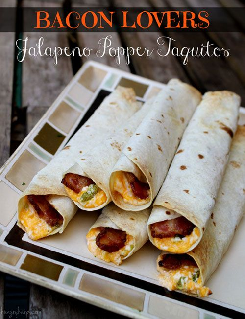 Bacon Lovers} Jalapeno Popper Taquitos: Football Food, Yummy Food ...
