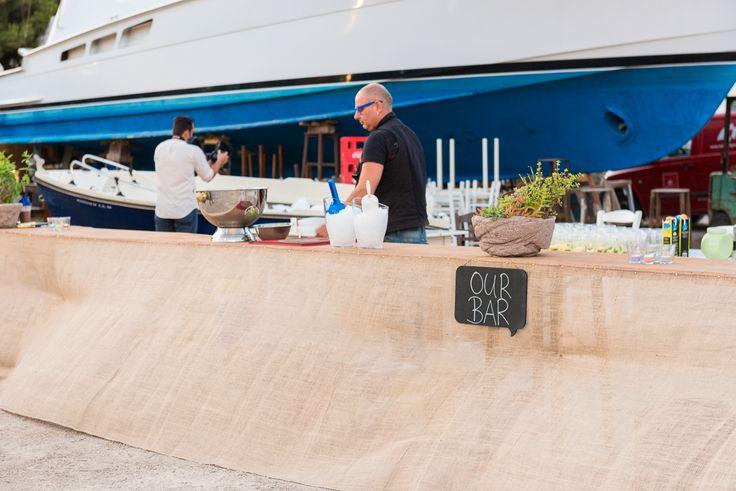 TARSANAS WEDDING PARTY-SYROS cocktail bar old shipyard concept | lafete