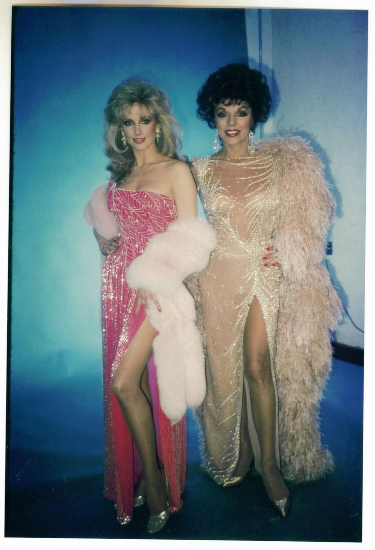 "weareallprostitutesandjunkies: "" Joan Collins and Morgan Fairchild """