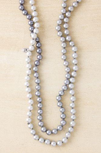 """Ombre Pearls 62"""" Platinum"""