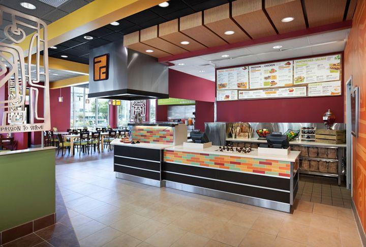 Food bank interiors pollo campero by interbrand design