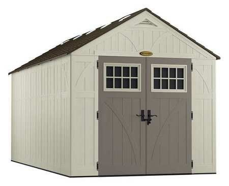 """Suncast BMS8160 Tremont Resin Storage Shed, 16' 3-1/4"""" by 8' 4-1/2"""""""