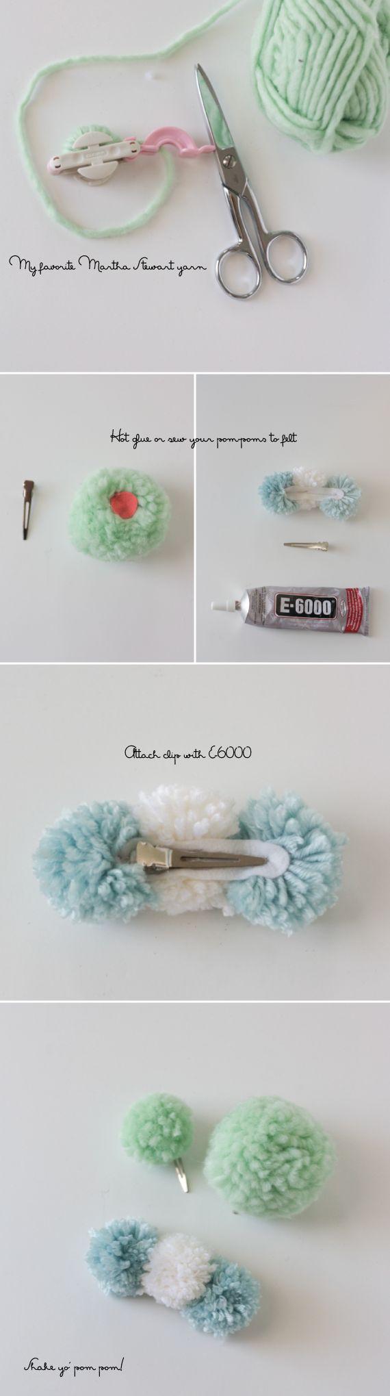DIY-pom-pom-hair-clip