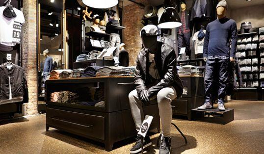 Shop area at JACK & JONES flagship store in Copenhagen