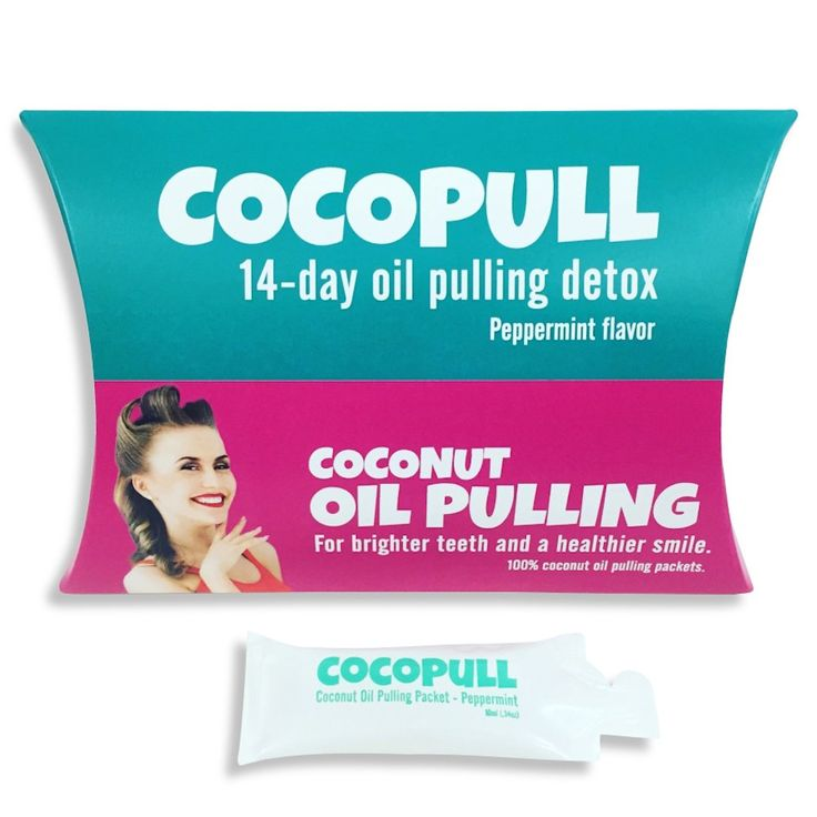COCOPULL - Coconut Oil Pulling For Teeth Whitening and Mouth Hygiene! Comes with 14 Pre-Measured Oil Pulling Packets. Helps Remove Coffee/Tea Stains on Teeth and Eliminate Bad Bacteria That Causes Bad Breathe. Also contains 100% Organic Peppermint Oil for Added Breath Freshening.