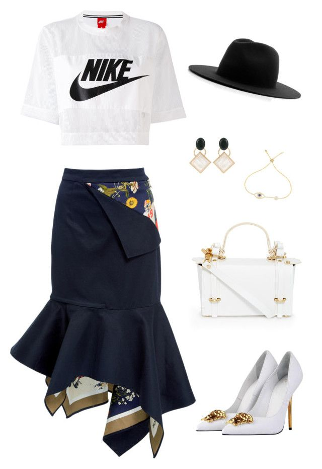 """""""Untitled #151"""" by cioulan ❤ liked on Polyvore featuring Monse, NIKE, Versace, Études, Niels Peeraer and Marni"""