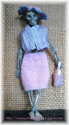 Minna's Miniatures: Mrs Skele Ton - Rouva Skele Ton