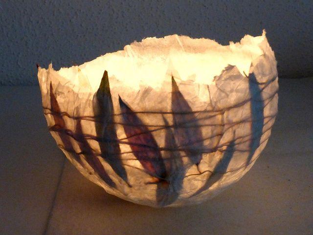 Papierschale mit Blättern - paper bowl with leaves | Flickr - Photo Sharing!